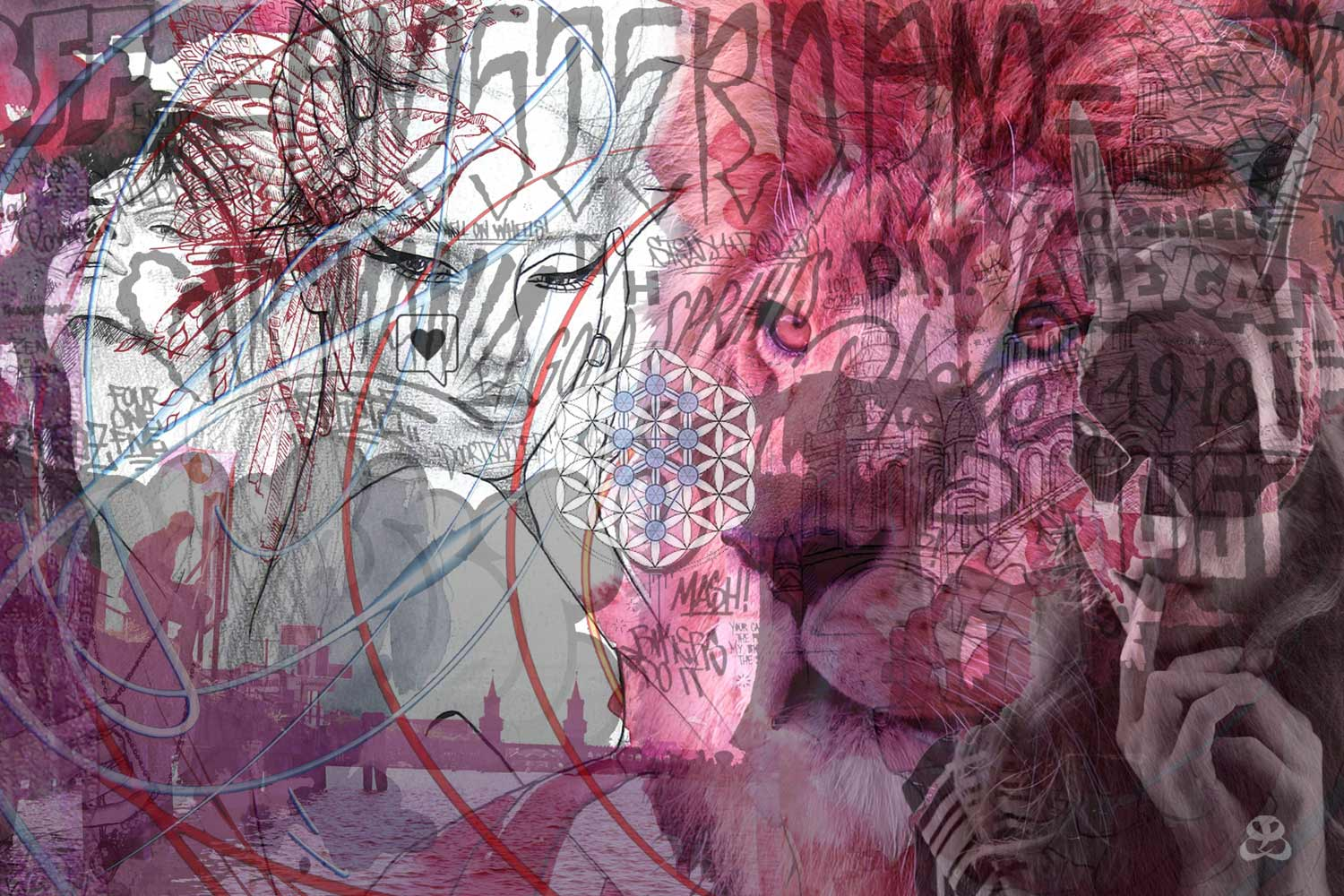 DIGITAL ART AMSTERDAM - LADY AND THE LION